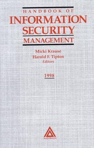 9780849399473: Handbook of Information Security Management