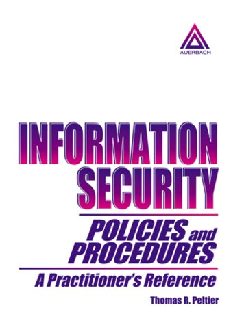 9780849399961: Information Security Policies and Procedures: A Practitioner's Reference
