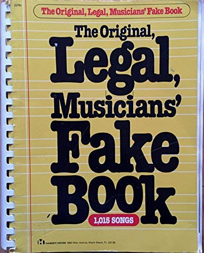 9780849400018: Original Legal Musicians' Fake Book (1015 Songs)