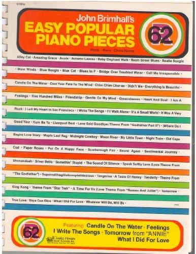 9780849401237: John Brimhall's Easy Popular Piano Pieces