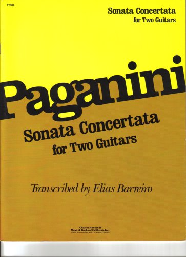 9780849413544: Paganini Sonata Concertata for Two Guitars