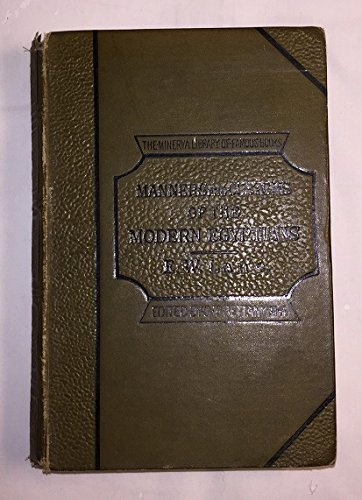 9780849534317: Manners and Customs of the Modern Egyptians