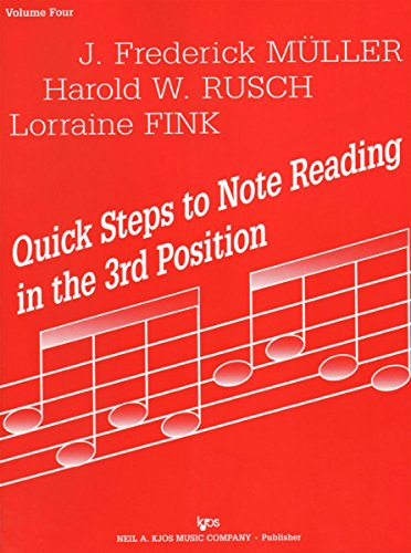 9780849731914: 72VN - Quick Steps to Note Reading in the 3rd Position - Volume Four - Violin