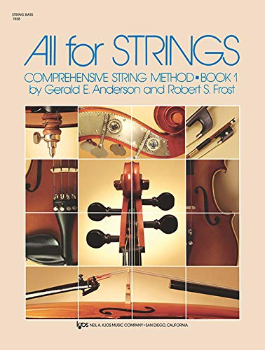 78SB - All For Strings Book 1: String Bass: Robert Frost; Gerald Anderson