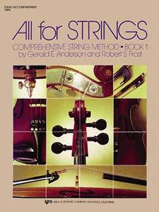 9780849732270: ANDERSON y FROST - All for Strings: Acompañamiento de Piano Vol.1