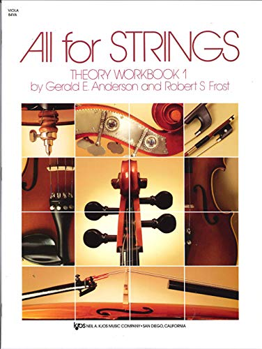9780849732478: All For Strings Theory Book 1: Viola