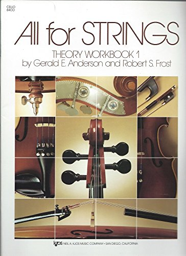 9780849732485: 84CO - All For Strings Theory Workbook - Book 1 - Cello