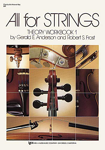 9780849732652: All for Strings Theory Workbook 1, Conductor Answer Key