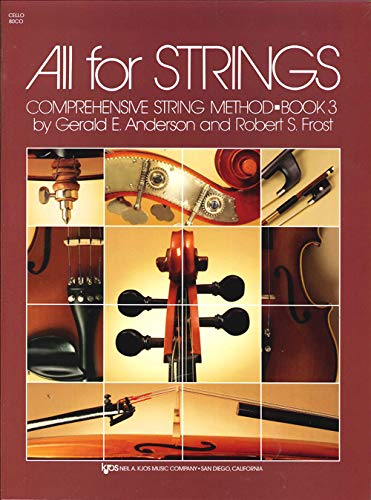 9780849733062: All for Strings : Cello/Book Three (80 CO)