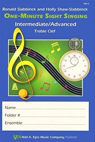 9780849742187: VM13 - One-Minute Sight Singing - Int./Adv. Treble Clef