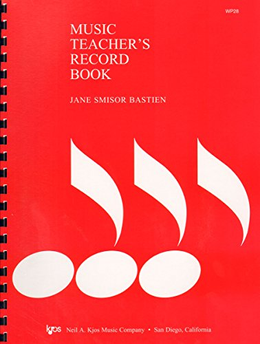 9780849750274: WP28 - Music Teacher's Record Book – Bastien