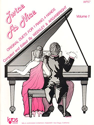 9780849750908: WP57 - Twice as Nice Volume 1 - Original Duets for 1 Piano, 4 Hands