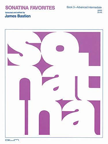 GP99 - Sonatina Favorites Book 3 - Bastien: Various