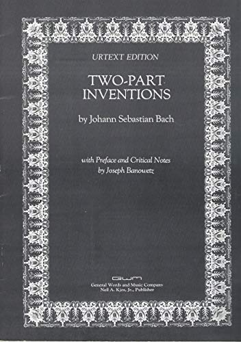 9780849761065: Two-part Inventions (by johann sebastian bach, urtext edition)