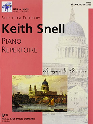 9780849762086: GP600 - Piano Repertoire: Baroque & Classical Preparatory Level