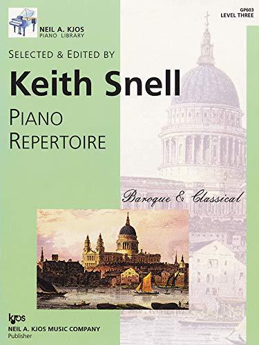 9780849762208: GP603 - Piano Repertoire: Baroque & Classical Level Three