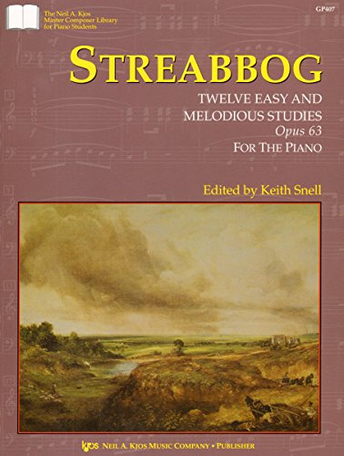 9780849762727: Streabbog : Twelve Easy And Melodious Studies Opus 63 For The Piano