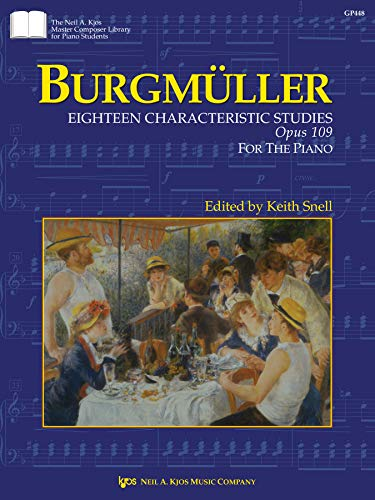 GP448 - Burgmuller : Eighteen Characteristic Studies: Keith Snell