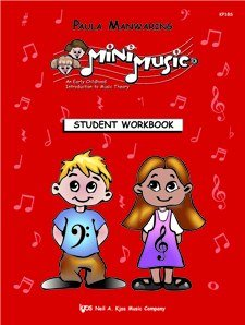 9780849773174: MiniMusic Student Workbook (Kjos Mini Music, Early Childhood Introduction to Music Theory)