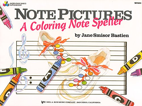 9780849793752: WP250 - Note Pictures: A Coloring Note Speller (Bastien piano basics)