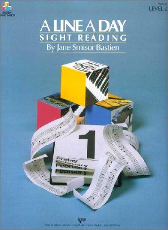9780849794261: A Line a Day Sight Reading Level 2 (Bastien Piano Basics)