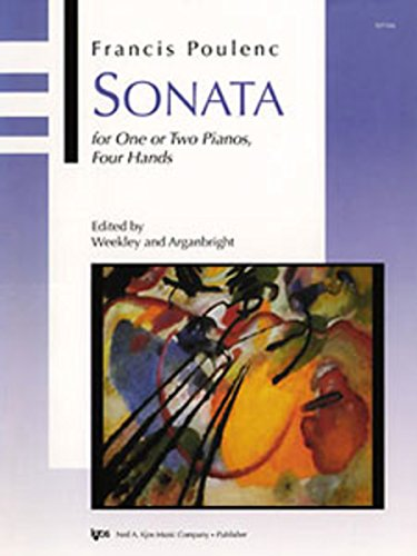 9780849796814: WP566 - Sonata for One or Two Pianos, Four Hands - Poulenc
