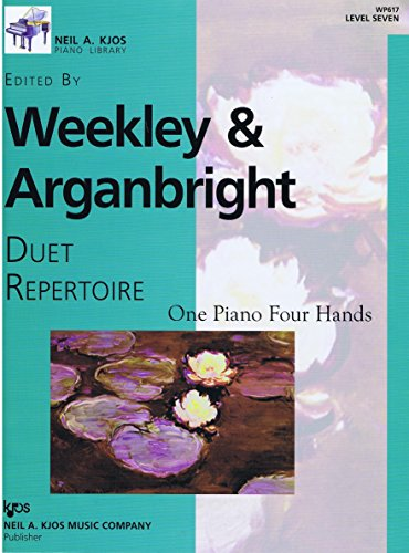 9780849797996: Weekley & Arganbright Duet Repertoire - One Piano Four Hands Level 7