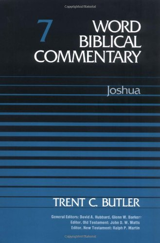 9780849902062: Word Biblical Commentary Vol. 7, Joshua (butler), 350pp