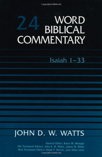 9780849902239: Word Biblical Commentary: Isaiah 1-33: 24