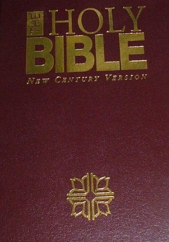 The Holy Bible: New Century Version Genuine Leather-Burgundy