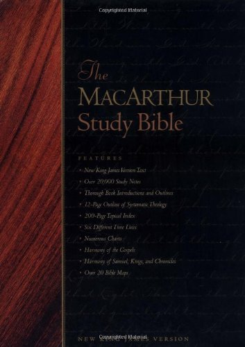 9780849915406: The Macarthur Study Bible (Black Genuine Leather w/ Thumbed Index)