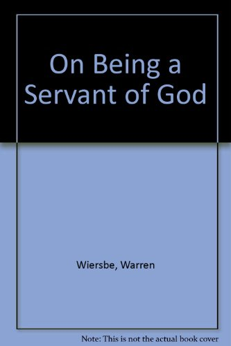 9780850096521: On Being a Servant of God
