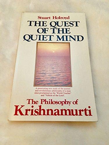 9780850302301: Quest of the Quiet Mind: Philosophy of Krishnamurti
