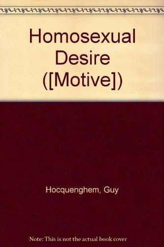 9780850312065: Homosexual Desire