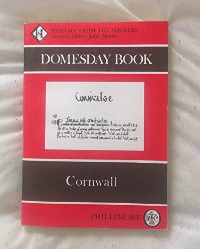 9780850331561: The Domesday Book: Cornwall (Domesday Books (Phillimore))
