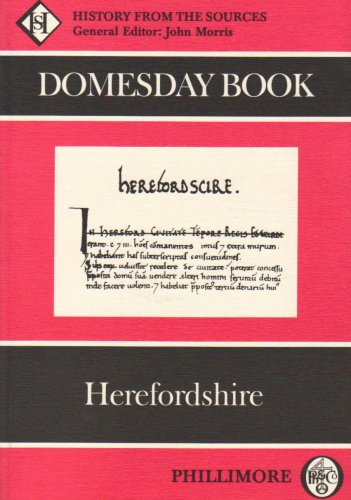 9780850334708: The Domesday Book: Herefordshire (Domesday Books (Phillimore)): History From the Sources