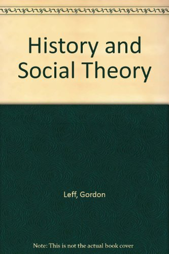 History and Social Theory (0850361222) by Gordon Leff