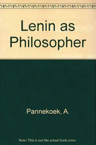 9780850361834: Lenin as Philosopher