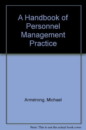 9780850387780: A Handbook of Personnel Management Practice