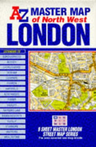 Az London Street Map.Master Map Of Greater London North West
