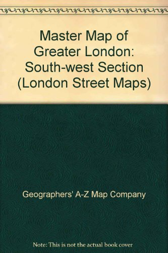 9780850390100: 9 Sheet Master Plan of South West London AZ (London Street Maps)
