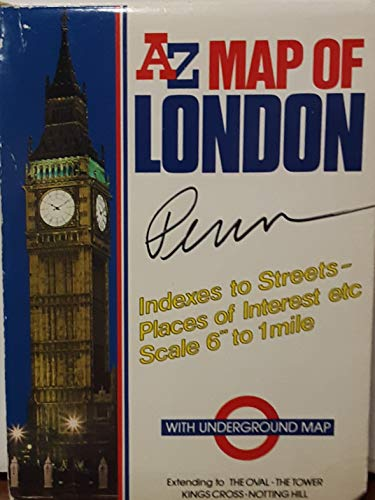 AZ map of London: Indexes to streets,: British Tourist Authority