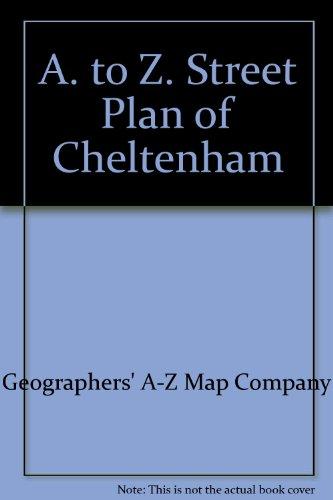 A. to Z. Street Plan of Cheltenham: Geographers A-Z Map