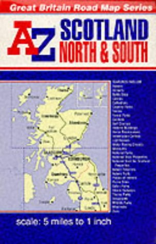 A-Z Scotland Reversible Road Map: Geographers' A-Z Map