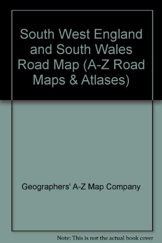 South West England and South Wales Road: Geographers' A-Z Map