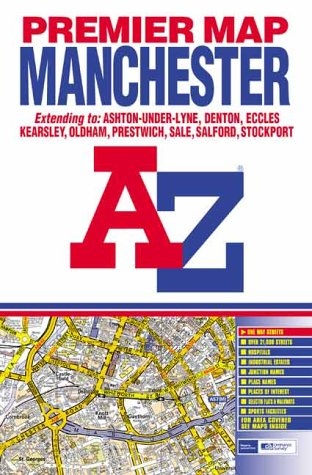 9780850399943: Premier Map of Manchester (A-Z Street Maps & Atlases)