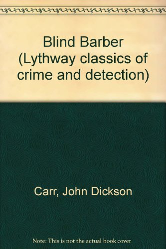 9780850466881: Blind Barber (Lythway classics of crime and detection)