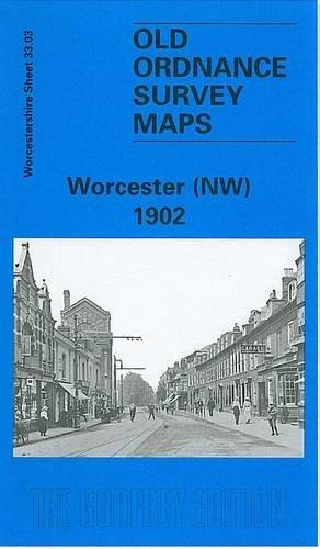 OLD ORDNANCE SURVEY DETAILED MAP WORCESTER SW  WORCESTERSHIRE  1902 Sheet 33.07