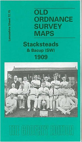 9780850549461: Old Ordnance Survey Maps of Lancashire: Stacksteads and Bacup (SW)