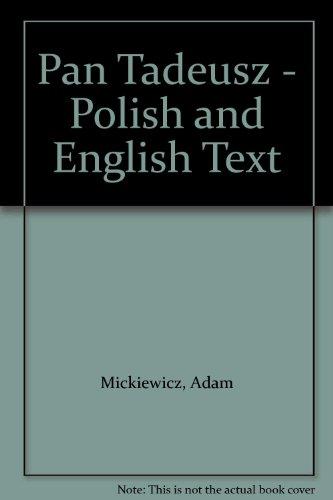 9780850653076: Pan Tadeusz - Polish and English Text